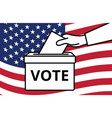 voters hand putting envelope in ballot box vector image vector image