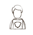 blurred thick silhouette caricature faceless half vector image