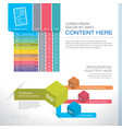 modern graph design or infographic design vector image