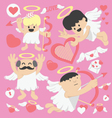 Valentines Day cartoon cupid vector image