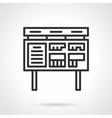 Ads board black line icon vector image