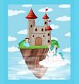 a castle island above ocean vector image vector image