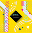 abstract of trendy hipster modern geometric on vector image vector image