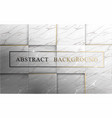 abstract square marble with golden luxury texture vector image vector image