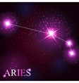 aries zodiac sign of the beautiful bright stars vector image vector image