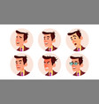 avatar man beautiful male modern employer vector image