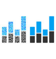 bar chart collage of dollars vector image vector image