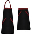 black apron vector image
