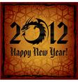 black dragon 2012 new year card vector image vector image