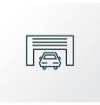 car garage icon line symbol premium quality vector image vector image