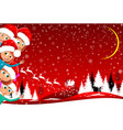 children happily greet christmas vector image vector image