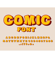 Comic font Bang alphabet Bright cartoon ABC yellow
