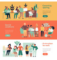 coworking people banners set vector image vector image