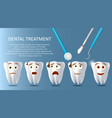 dental treatment concept poster banner vector image vector image