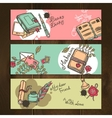 diary vintage banners vector image