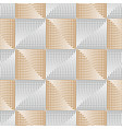 elegant square silver-golden seamless pattern vector image
