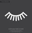 eyelash premium icon white on dark background vector image