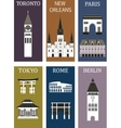 Famous cities vector image vector image