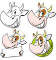 funny cow head - vector image vector image