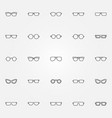 glasses icons set eyeglasses outline vector image vector image