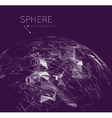 Global communication in the sphere form vector image vector image