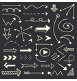 Hand drawn arrows sketch set vector image