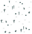 hand drawn seamless pattern little saguaro agaves vector image vector image