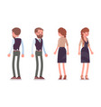 handsome male and pretty female office employee vector image vector image
