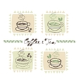 Hot drinks set vector image vector image