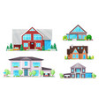 house home cottage buildings with roofs windows vector image vector image