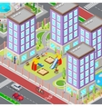 Isometric City Sleeping Dormitory Area vector image vector image