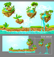 isometric game tropical nature landscape template vector image
