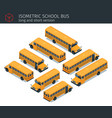isometric school bus vector image vector image