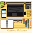Make your workspace banner7 vector image