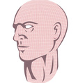 Male Human Head With Grid vector image vector image