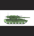 military modern camouflage tank heavy armored vector image vector image