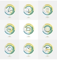 Minimal thin line design web icon set
