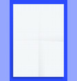 mockup crumpled standart blank squared series a4 vector image