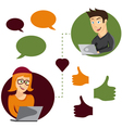 online dating man and woman app icons in hipster vector image vector image