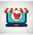 online shopping cart concept vector image vector image