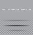 paper set sheet shadow effect transparent vector image vector image