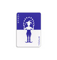 playing card with joker in blue and white design vector image vector image