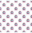 princess mirror pattern seamless vector image