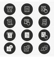 receipt icon set round vector image
