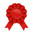 red award badge vector image