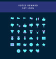reward and votes flat style design icon set vector image vector image