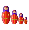 Russian tradition doll icon cartoon style vector image vector image