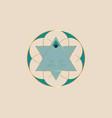 sacred geometry green flower life logo template vector image