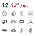 salary icons vector image vector image