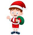 Santa boy vector image